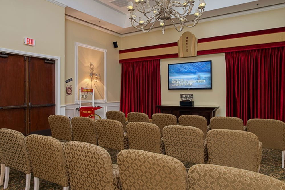 Theater room at Grand Villa of DeLand in Florida