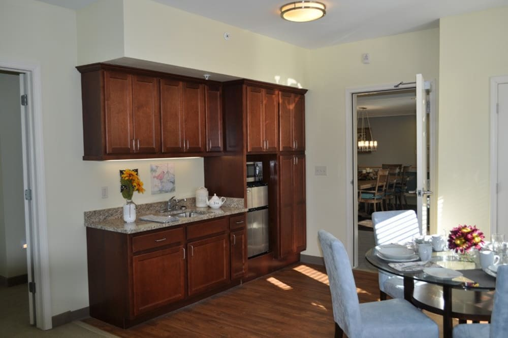 Kitchenette in a home at Governor's Village in Mayfield Village, Ohio