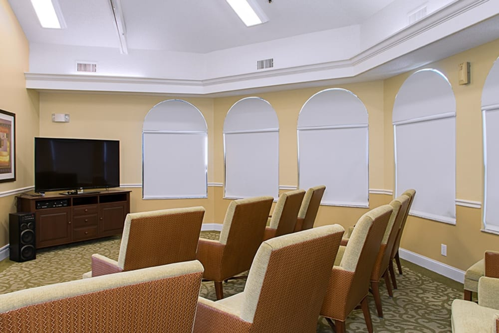 TV room at Grand Villa of Englewood in Florida
