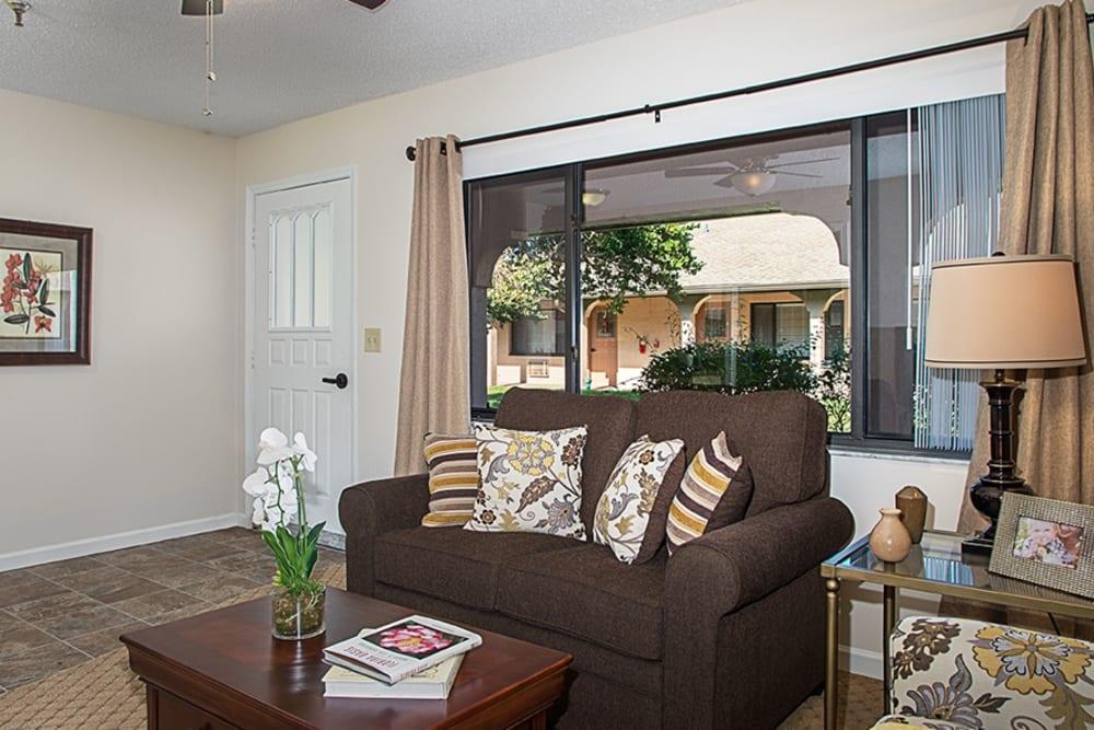 Living room model at Grand Villa of Englewood in Florida