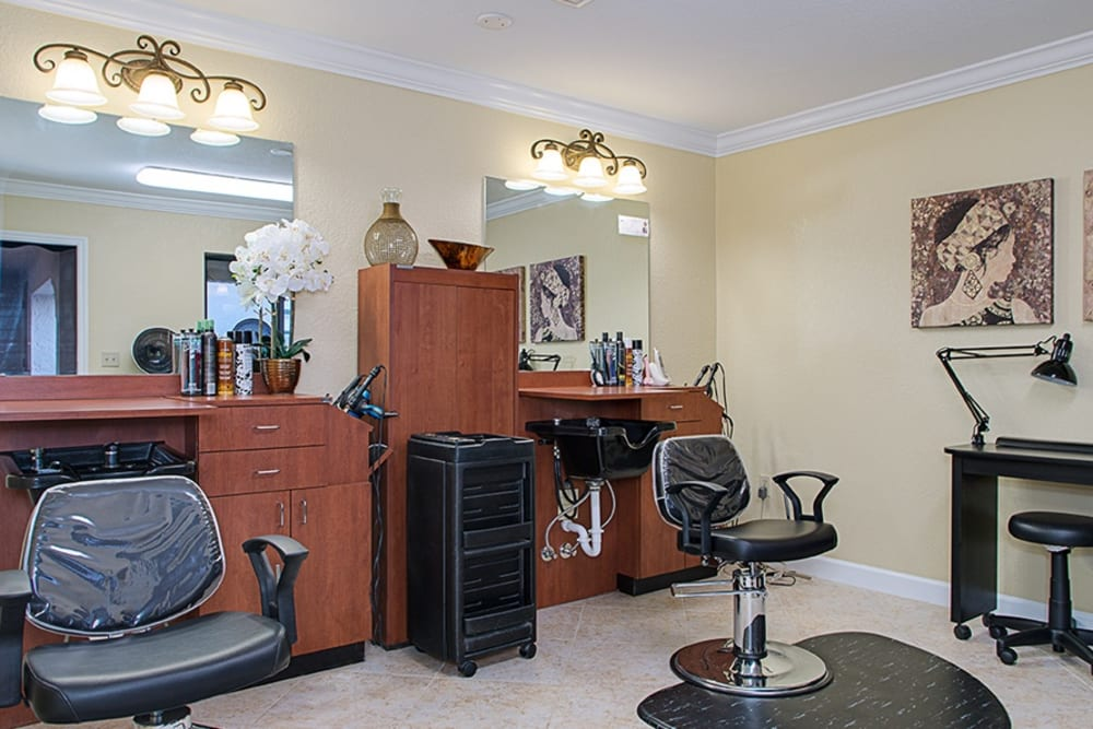 Barbershop at Grand Villa of Englewood in Florida
