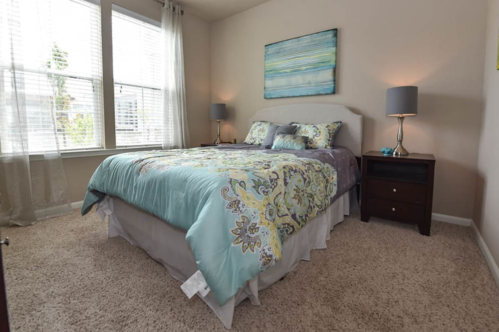 Beautiful bedroom at Springs at Eagle Bend in Aurora, Colorado