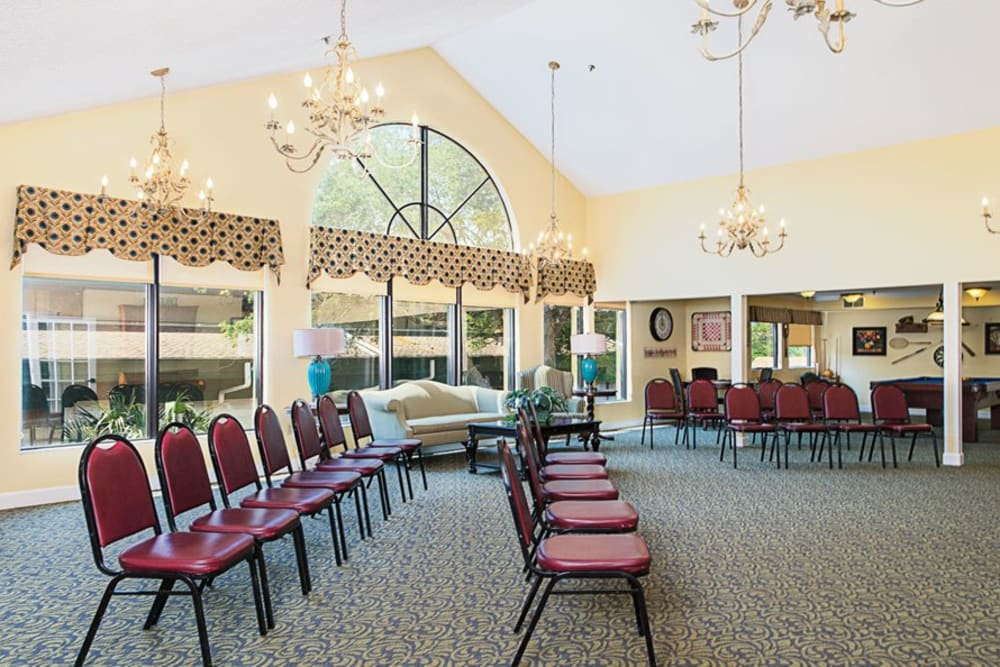 Large hall at Grand Villa of Ormond Beach in Florida