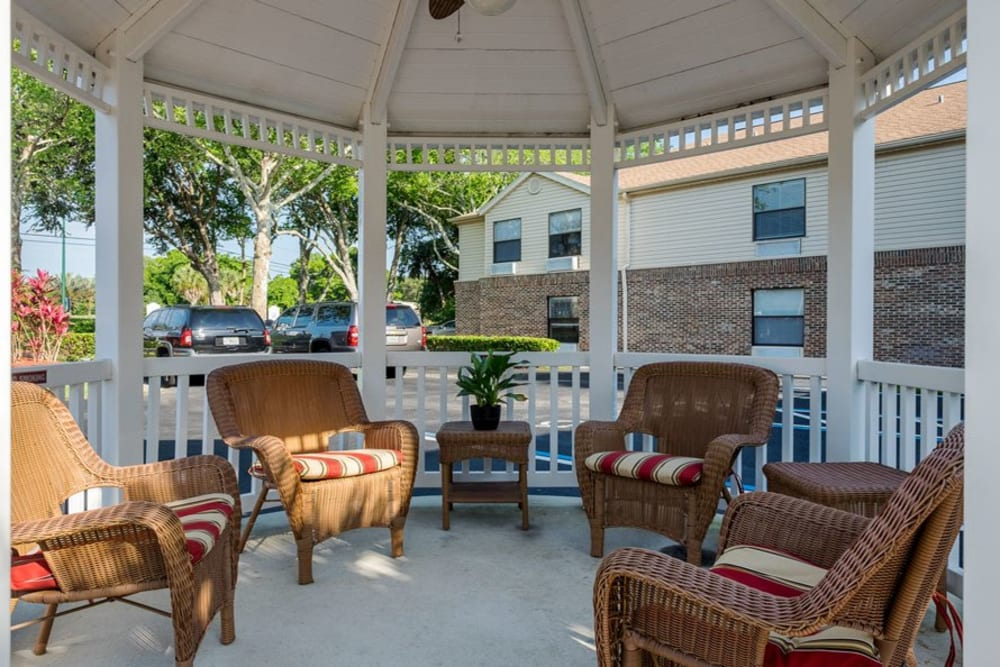 Seating area outside at Grand Villa of Ormond Beach in Florida