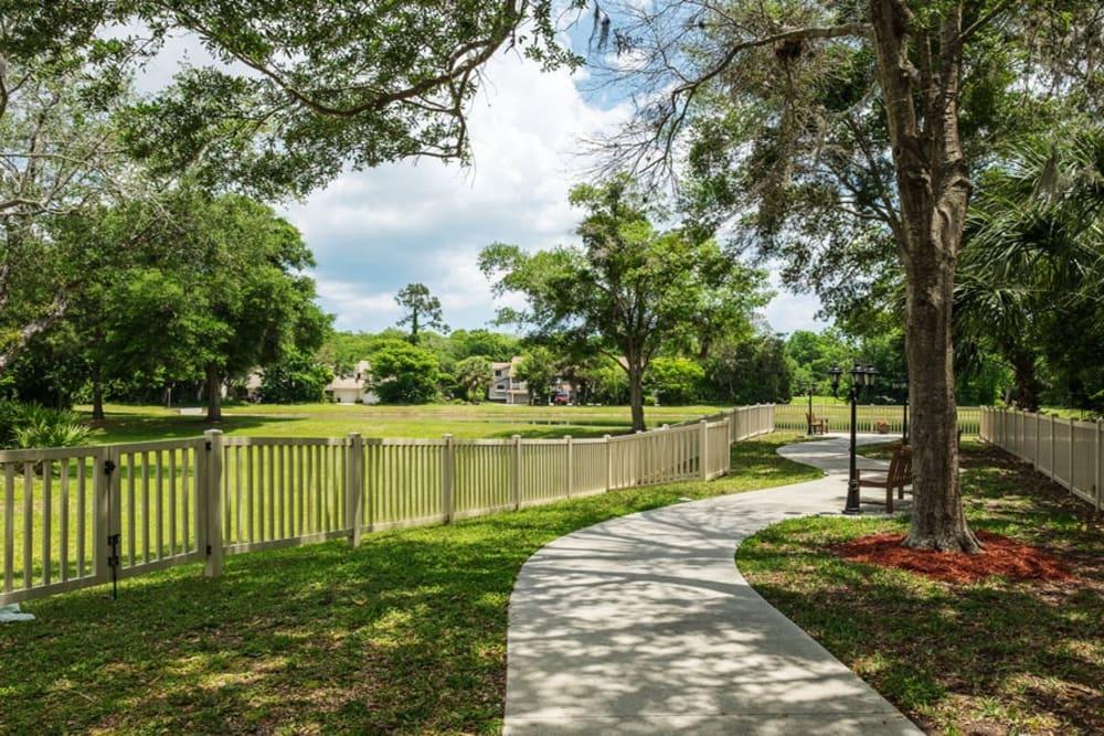 Pathway at Grand Villa of Ormond Beach in Florida