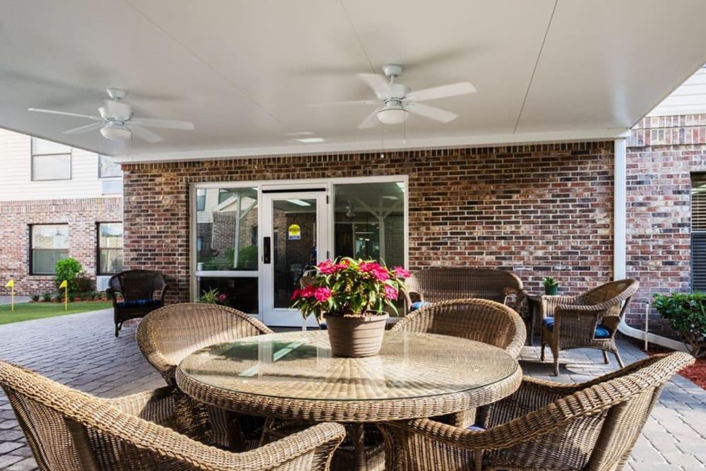 Patio at Grand Villa of Ormond Beach in Florida
