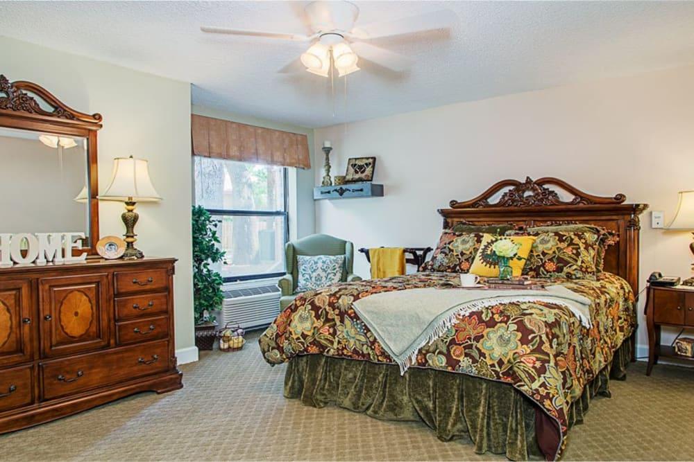 Bedroom model at Grand Villa of Ormond Beach in Florida