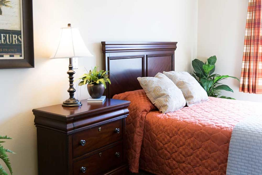 bedroom with bed and night stand