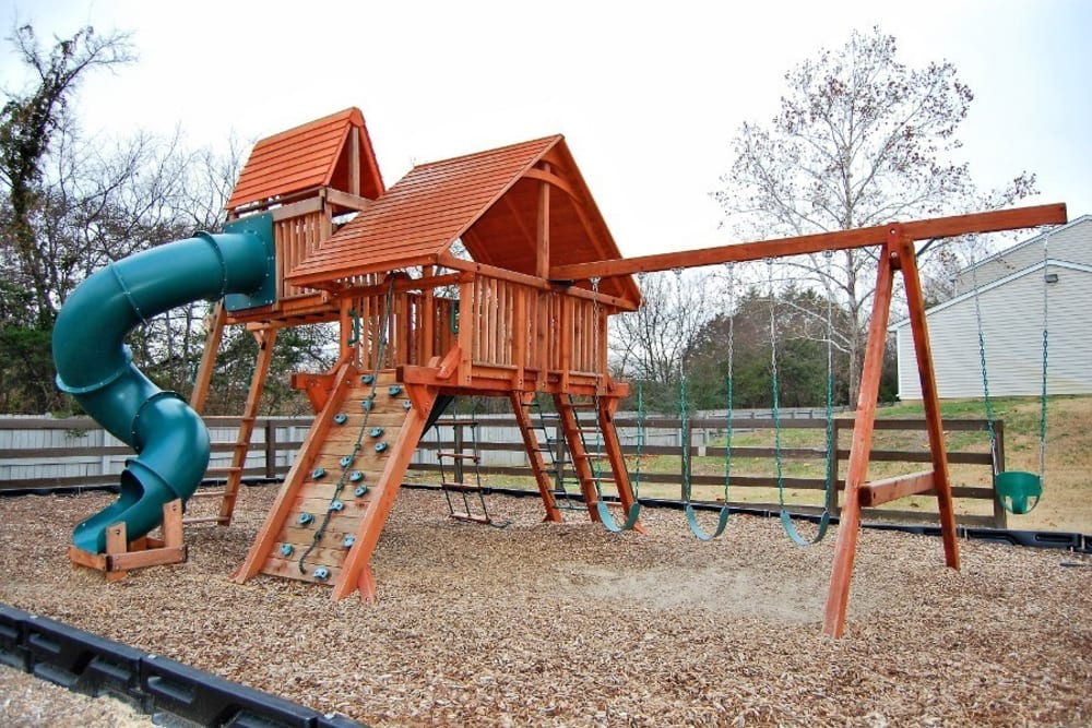 A playground with a slide at Cedar Ridge in La Vergne, Tennessee