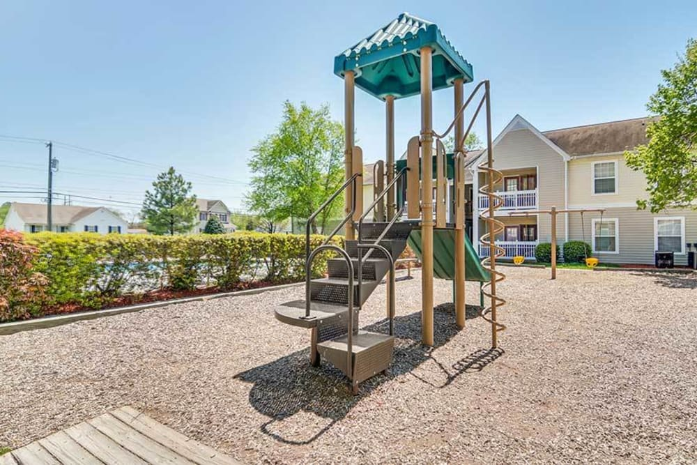 A spacious playground at The Glenn's at Millers Lane in Henrico, Virginia