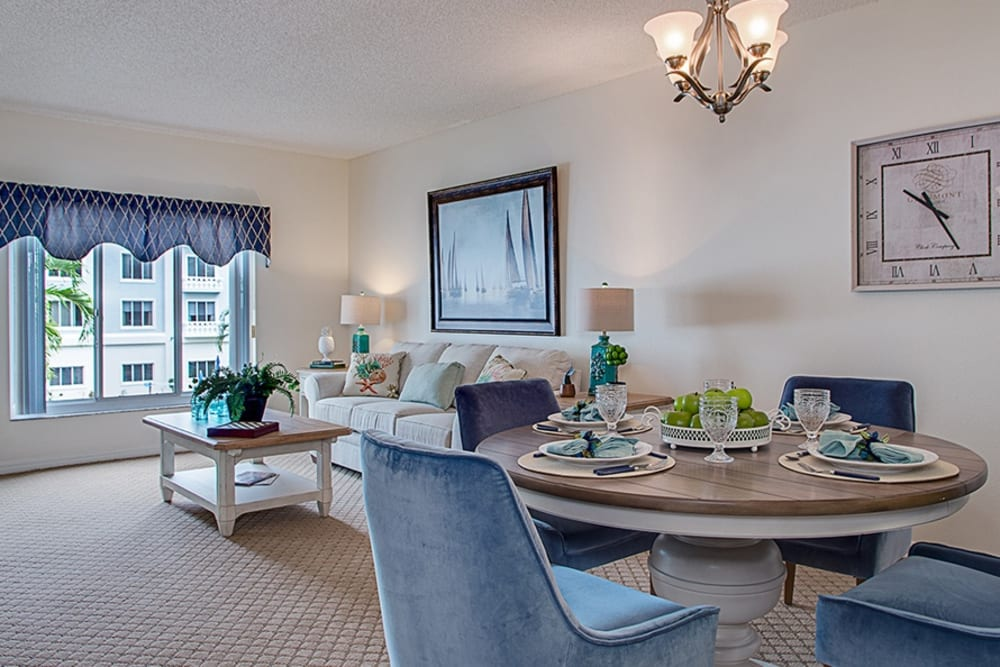 Dining room model at Grand Villa of Fort Myers in Florida