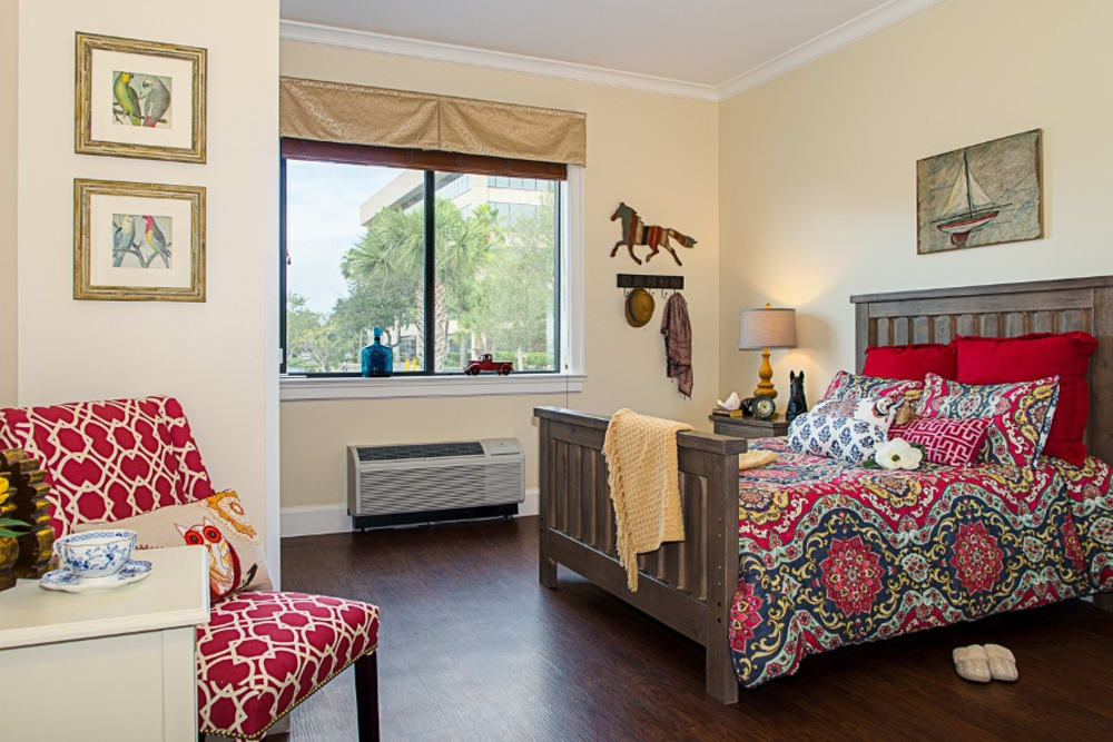 Bedroom model at Grand Villa of Melbourne in Florida