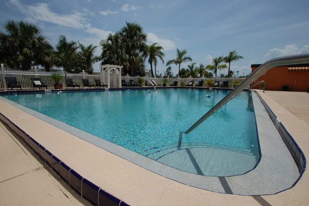 Outdoor swimming pool at Grand Villa of Melbourne in Florida