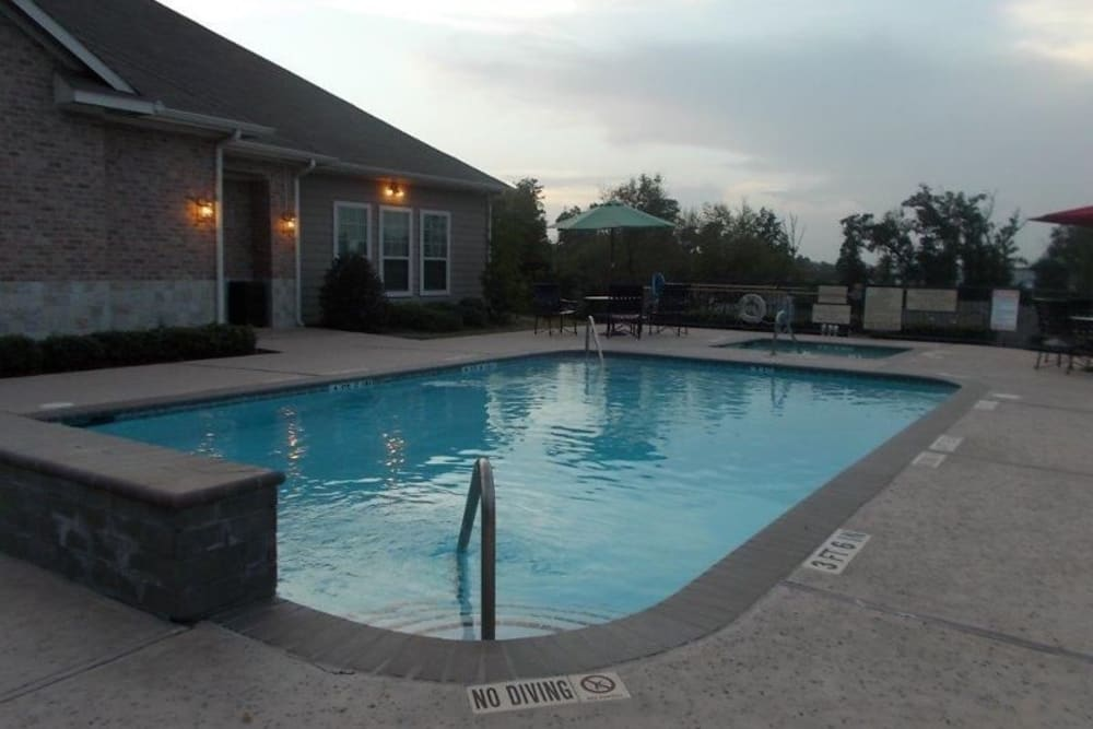 A swimming pool for summer days at Woodside Manor in Conroe, Texas