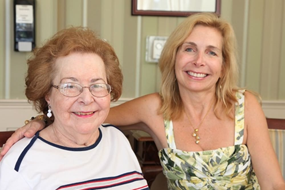 senior resident with daughter