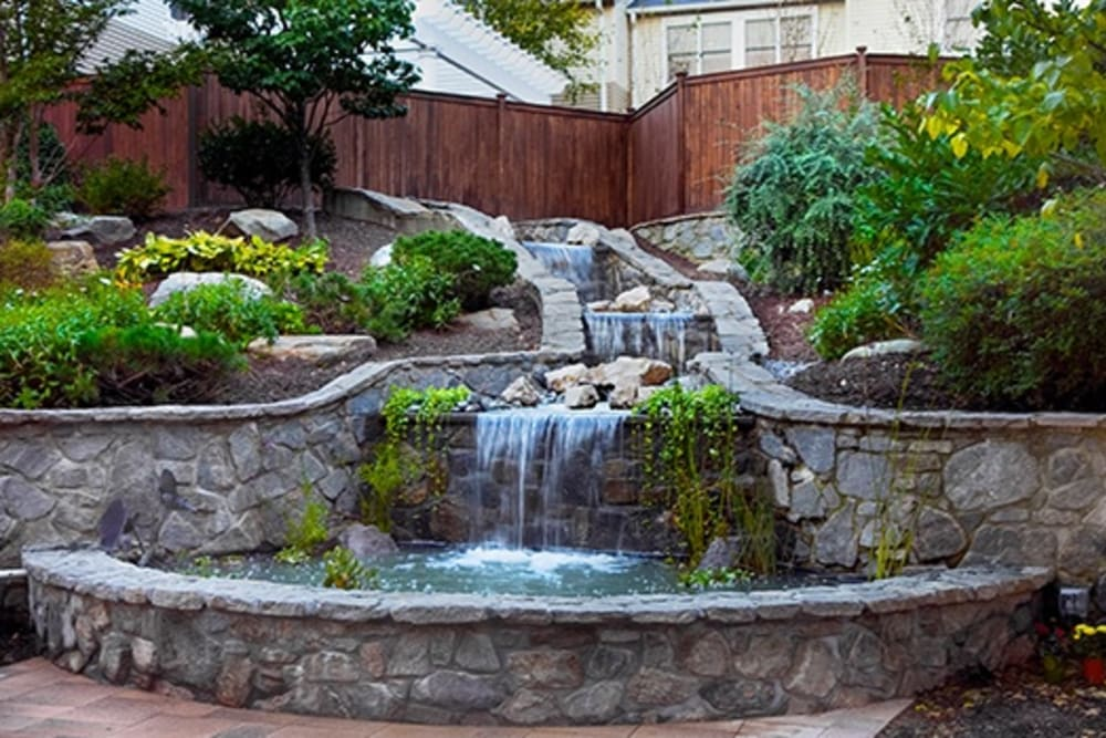 outside water fountain