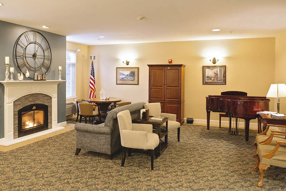 Seating area at King's Manor Senior Living Community