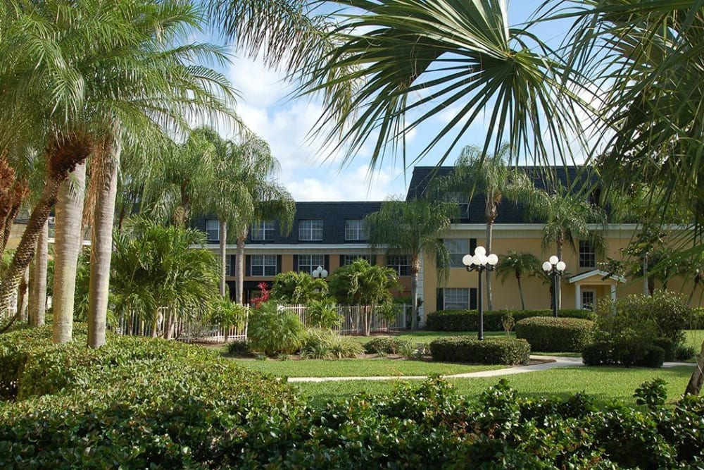 Greenery at Grand Villa of Delray West in Florida