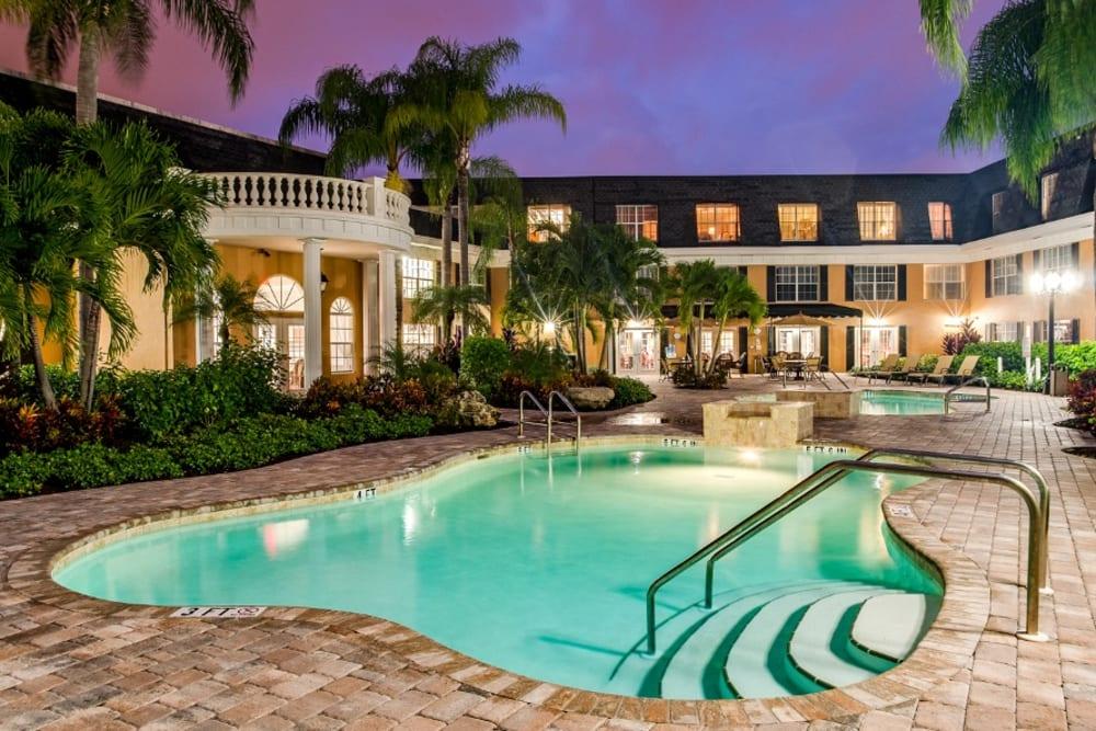 Soaking pool at Grand Villa of Delray West in Florida