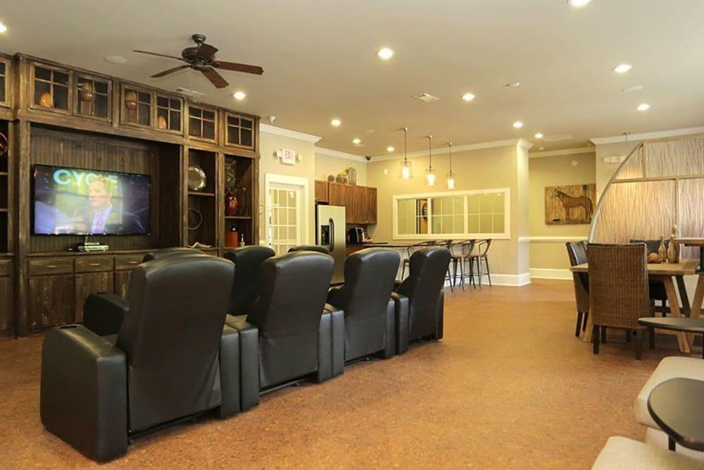 Theater room at Panther Riverside Parc Apartments in Atlanta, GA