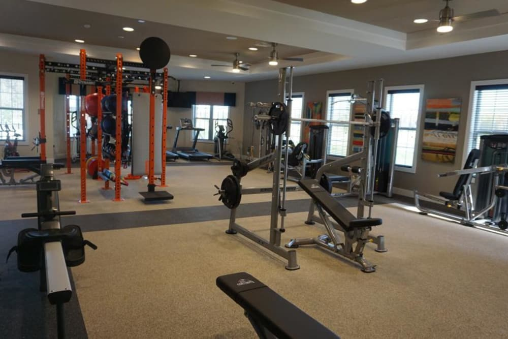State of the art fitness center at Integra Junction