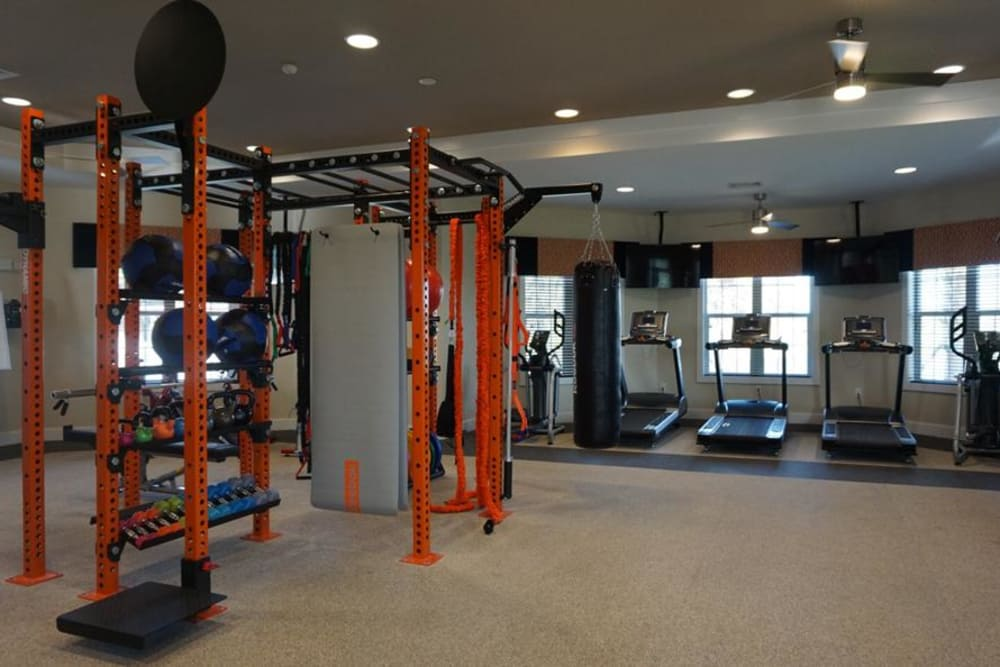 High end exercise equipment at Integra Junction