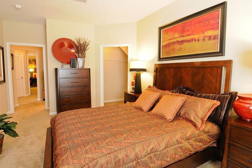 Bedroom at Villas at Houston Levee East Apartments in Cordova, TN