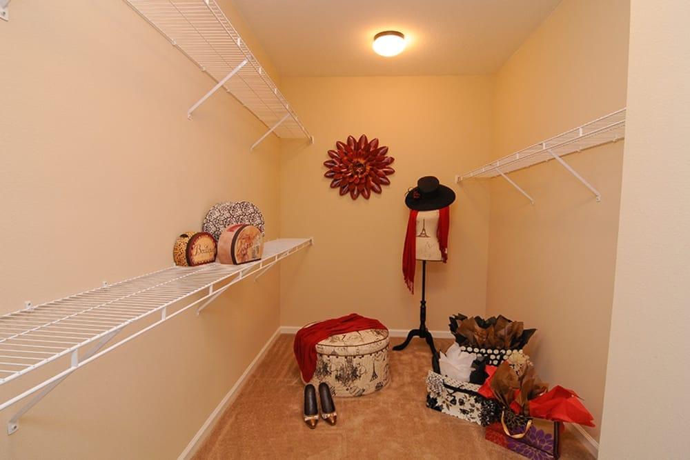 Walk-in closet at Villas at Houston Levee East Apartments in Cordova, TN