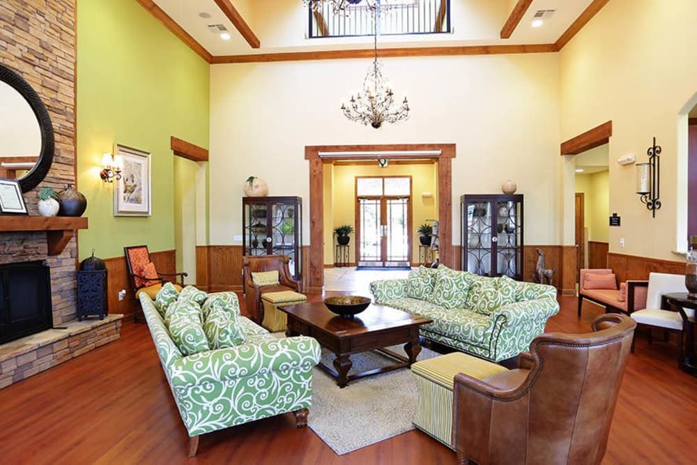 Clubhouse lobby at Huntsville Parc Apartment Homes in Huntsville, AL