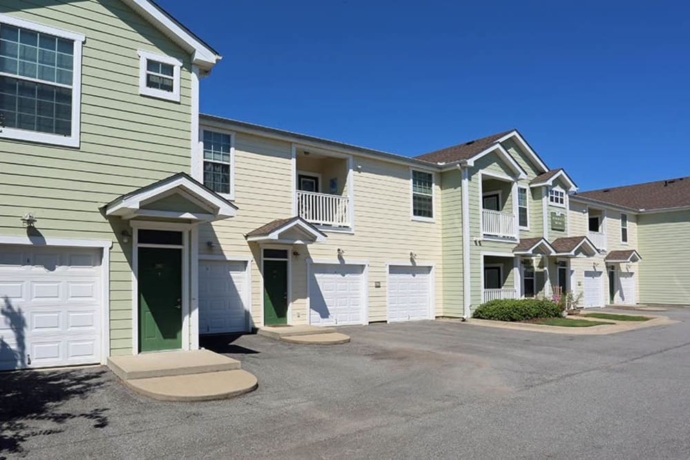 Garages available at Huntsville Parc Apartment Homes in Huntsville, AL