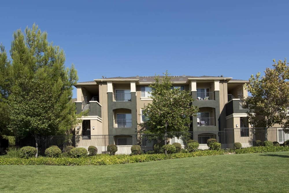 Large grass lawn for summer picnics at Cross Pointe Apartment Homes in Antioch, California