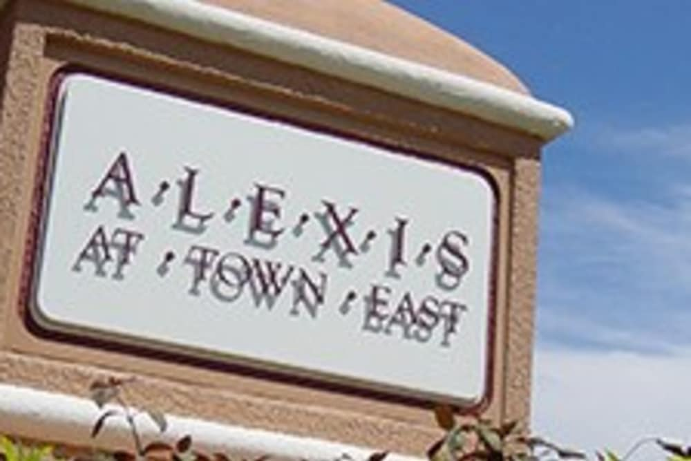 Alexis at Town East Apartments in Mesquite, TX | entrance sign