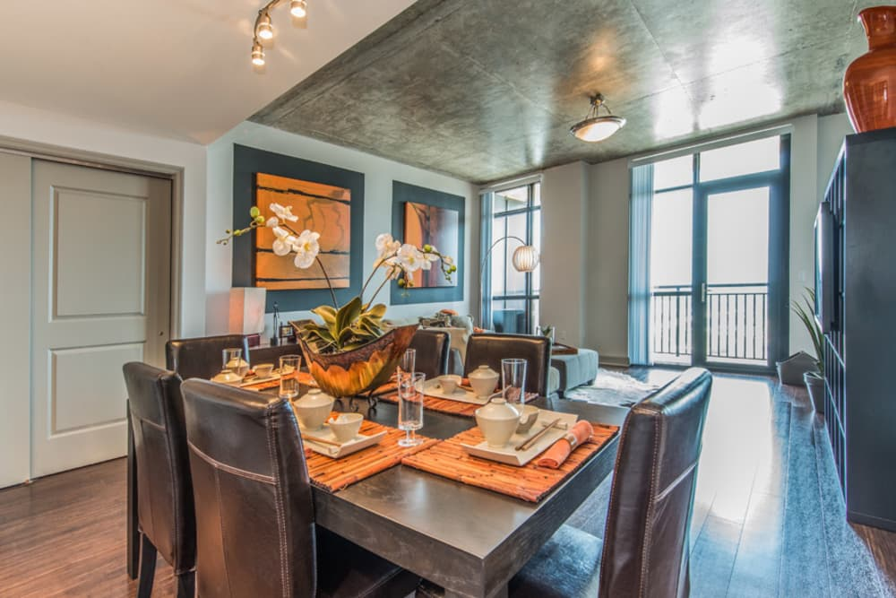 Dining Room at 55 West Apartments