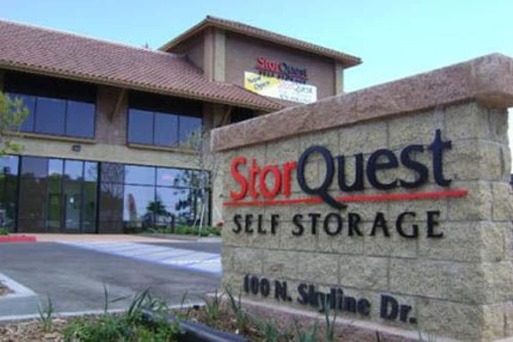 Thousand Oaks self storage facility entrance