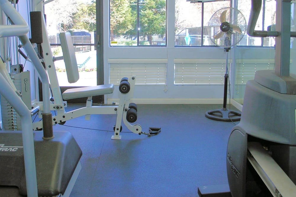 Onsite fitness center at Plum Tree Apartment Homes in Martinez, California