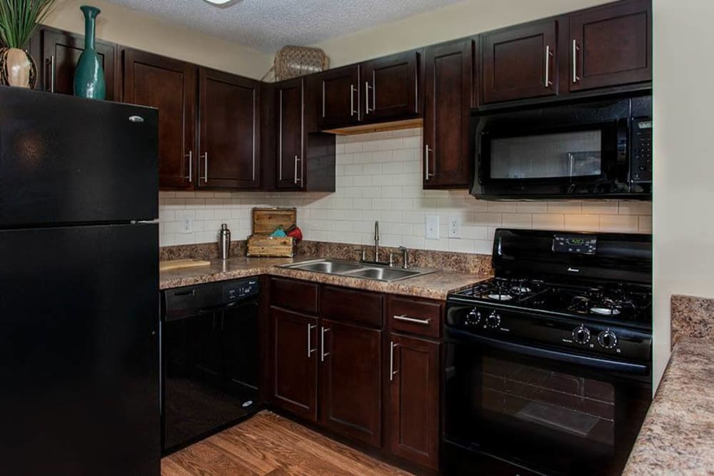 Kitchen at Fern Parc Apartment Homes in Huntsville, AL