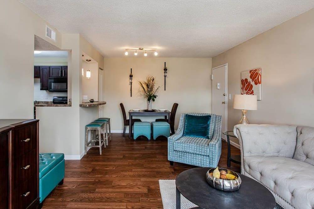 Open floor plans at Fern Parc Apartment Homes in Huntsville, AL