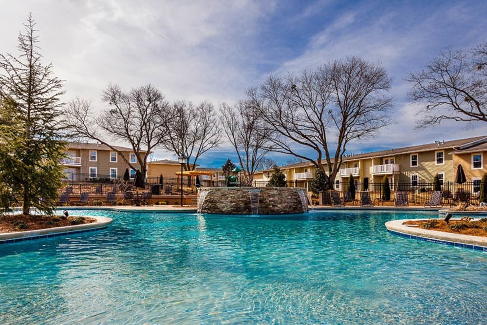 Swimming pool at Fern Parc Apartment Homes in Huntsville, AL