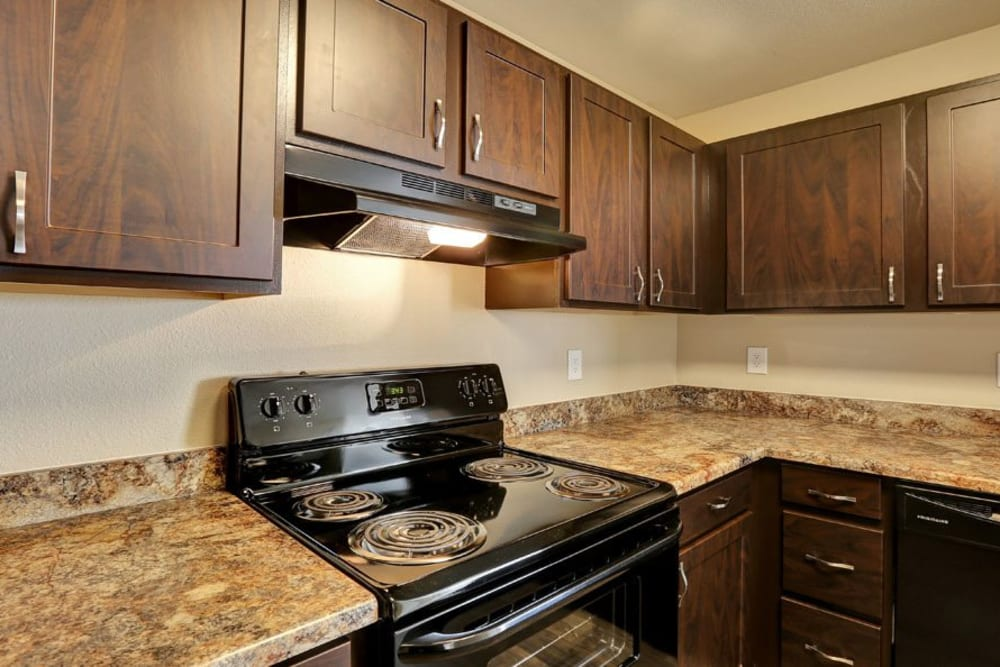 Kitchen at Belle Creek Apartments in Henderson, CO