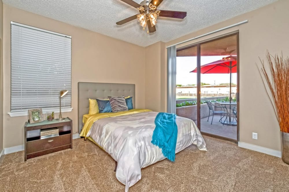 Spacious bedroom at The Enclave at 1550 Apartments in San Antonio, TX