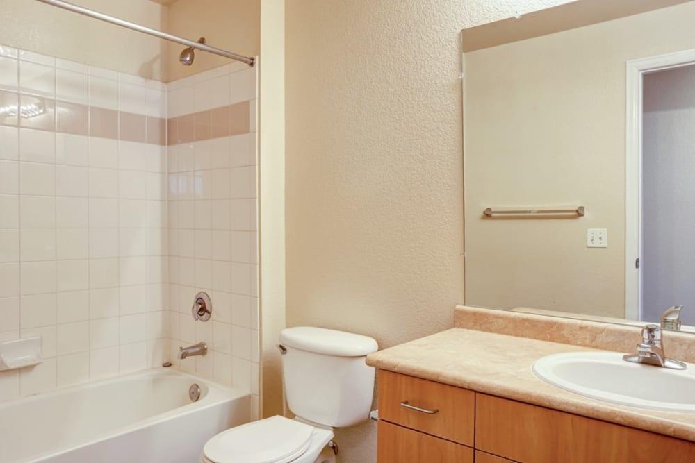Bathroom at Diamond at Prospect Apartments in Denver, Colorado