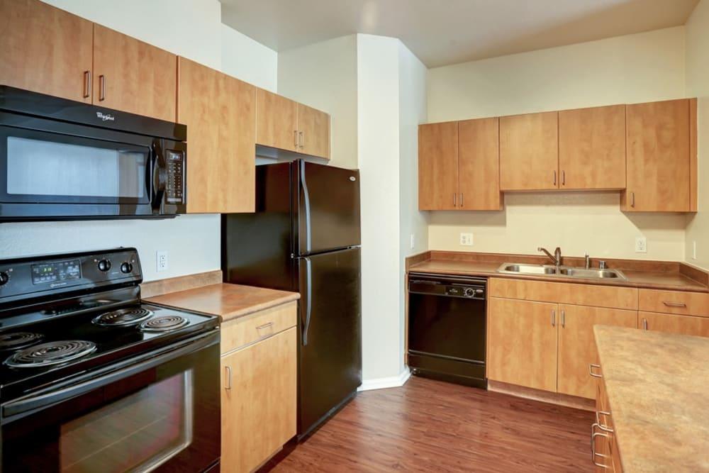 Kitchen at Diamond at Prospect Apartments in Denver, Colorado
