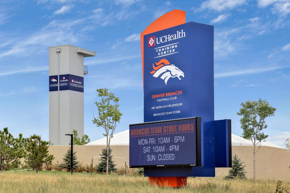 Our Apartments in Englewood, Colorado are conveniently located near the Denver Broncos Training Center
