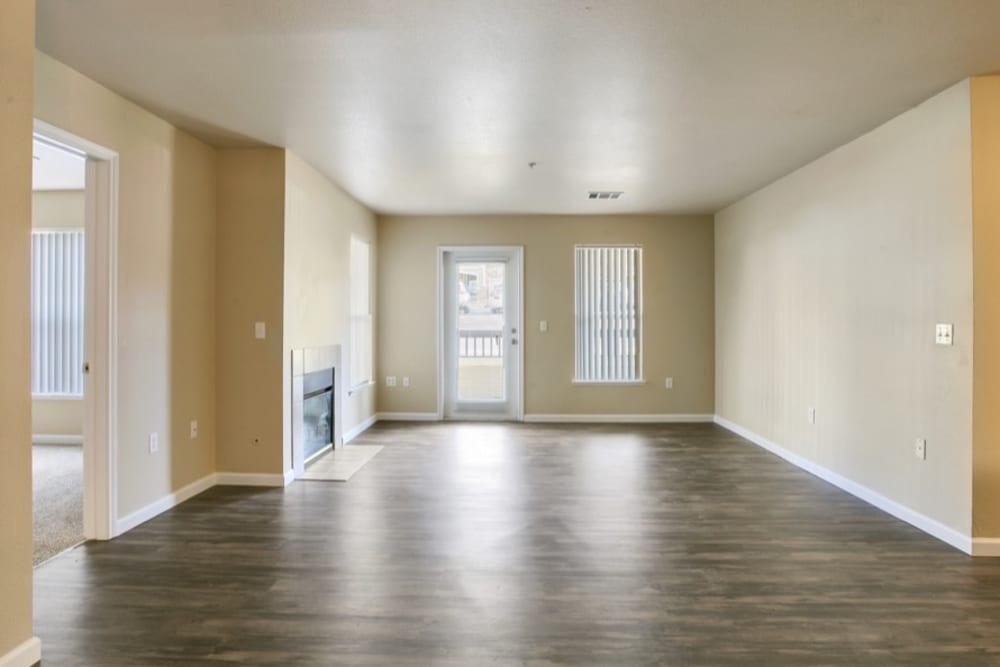 Spacious Living Room at The Pines at Castle Rock Apartments in Castle Rock, Colorado