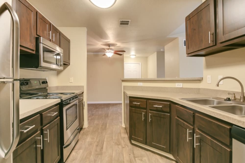 Kitchen at The Pines at Castle Rock Apartments in Castle Rock, Colorado