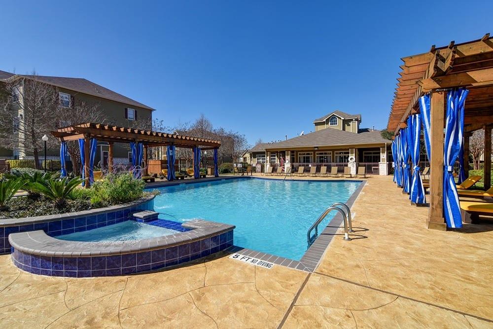 Swimming pool at The BLVD at Medical Center Apartments