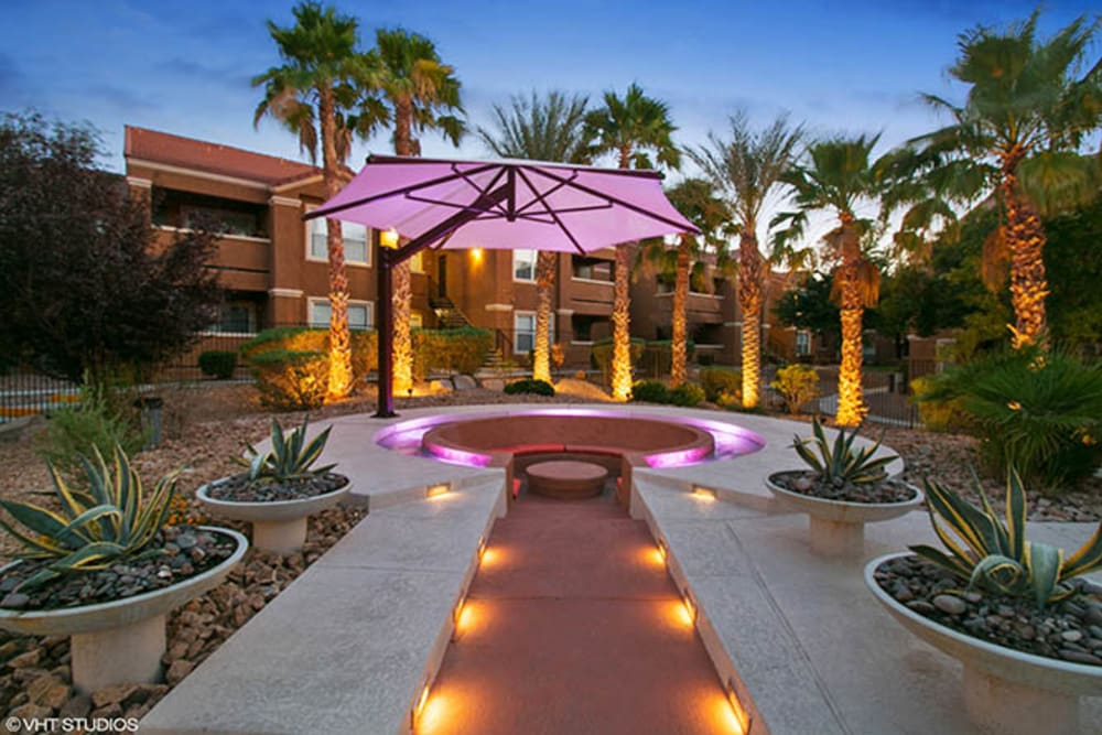 Outdoor Lounge at Ascent at Silverado in Las Vegas, Nevada