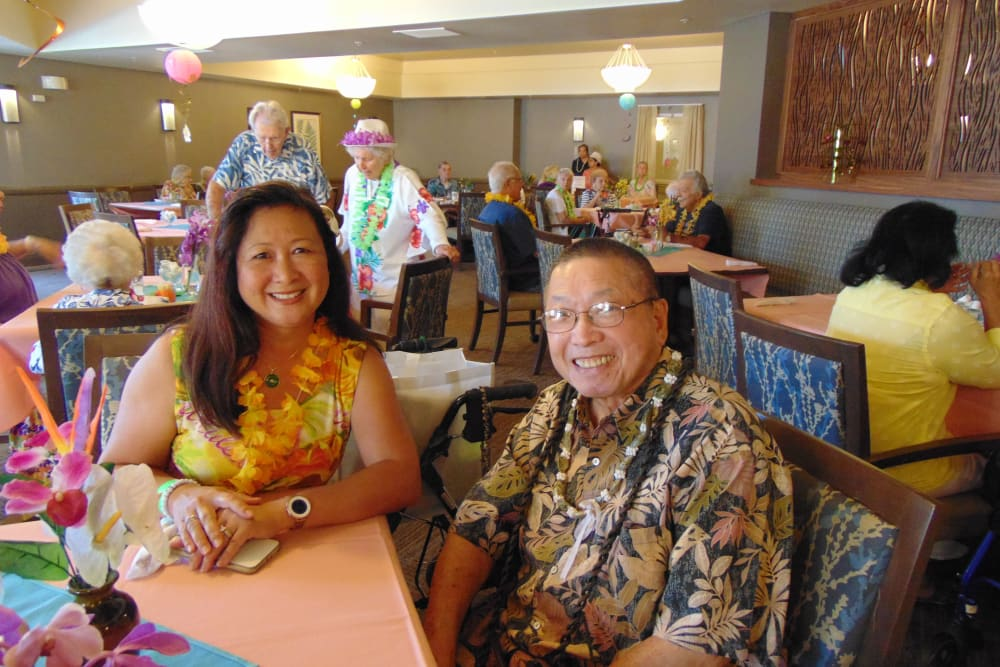 Luau party at Merrill Gardens at Oceanside
