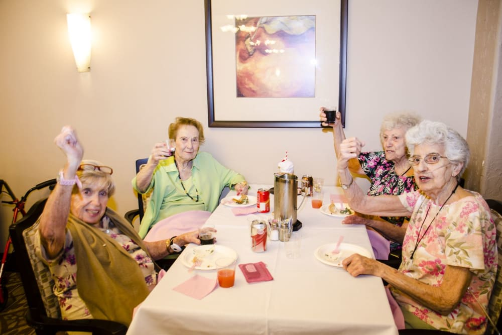 Residents having fun together at our senior living community in NV