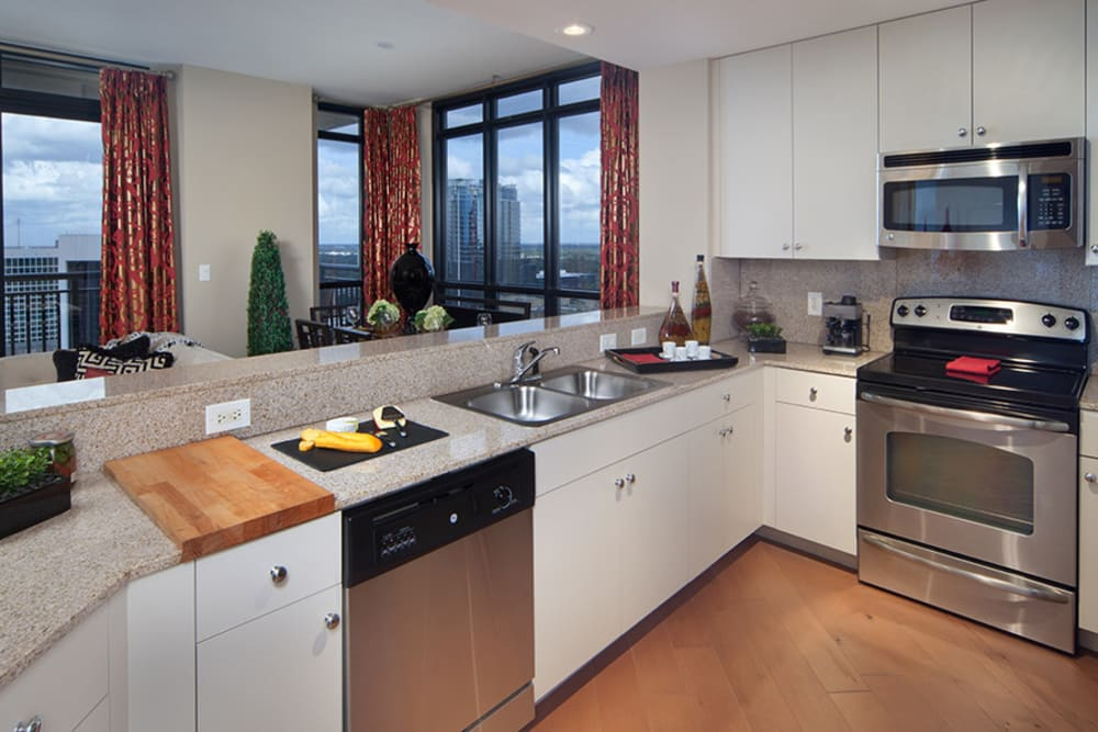 Kitchen and Appliances at 55 West Apartments